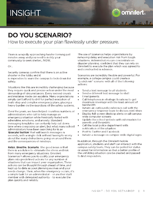 Insight - Do You Scenario