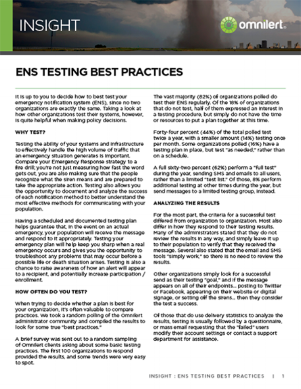 Insight - ENS Testing Best Practices