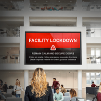 Digital signage provides emergency notification integration