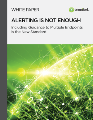 Alerting is not enough!  Emergency notification systems require ongoing effective management of the communication plan
