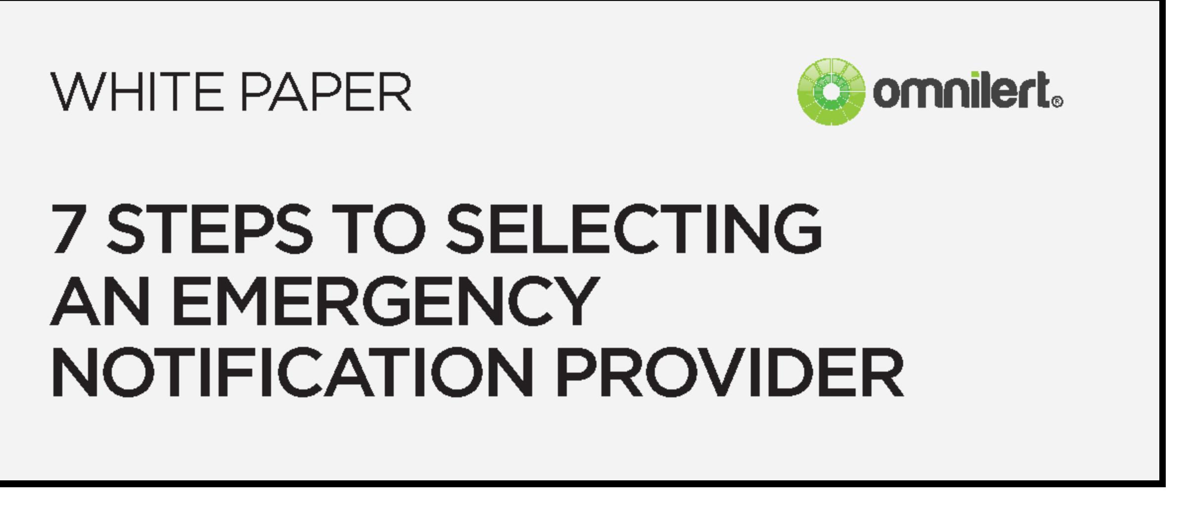 emergency notification