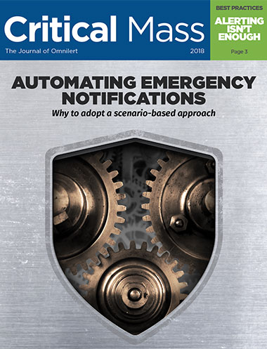 Announcing 2018 Critical Mass Magazine - Automating Emergency Notifications