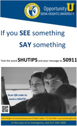 SHU Receives Student's Anonymous Tips via Text Message