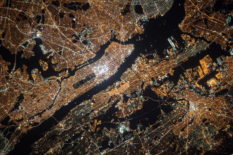 city -lghts-satelight-image