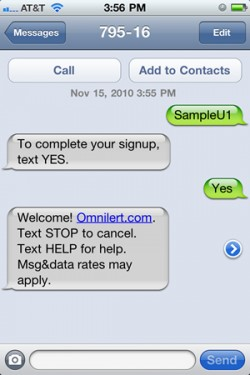 Mobile opt-in to emergency alerts now available